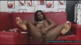 Tall Busty Ebony Babe Fucks All Holes Deep And Hard