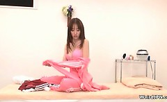 Horny Japanese massage guy groping