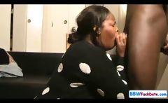 BBW Ebony Deepthroat Swallow
