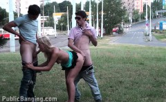 Young girl PUBLIC teen gangbang orgy Part 2