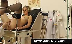 hidden cam footage of hot gyno exam