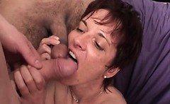 Hot mature couple fucks hardly