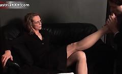 Nasty old slut gets horny