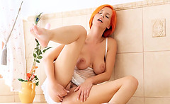 Redhead Ariel fingering vagina for you
