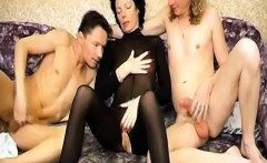 Old mature woman teaches young man with big dick how fuck