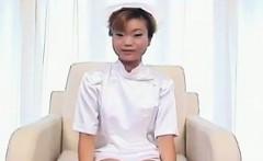 Japanese Nurse Vibrating Her Pussy