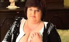 big fat woman in black dress does striptease