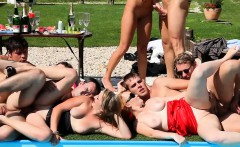 Bisexual group outdoor orgy