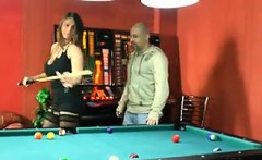 Busty Slut Fucked On A Pool Table