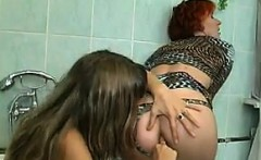 Russian Lesbians In The Bathroom