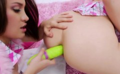 Ass fingering lesbian toy