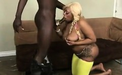 Big Blonde Black Whore And A Big Cock