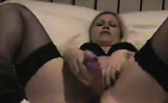 European Chick Masturbating
