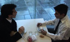 Twink co-workers get laid after coffee