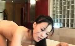 Hardcore Thai slut sucking a stiff cock