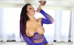 Booby Lylith Lavey milking cock under the massage table