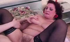 Mature chubby slut cummed on