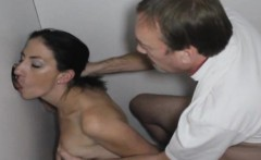 Brunette Amateur Sucks Dick And Banged In Glory Booth