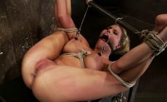Busty pornstar deepthroat gag