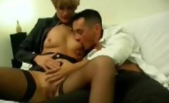 Analfucking Shannon a blonde mature in stockings