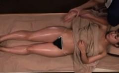 Perfect asian ass at massage studio