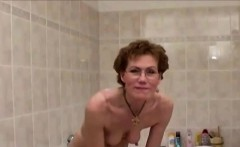 Dirty Granny Shaves Her Hairy Slit