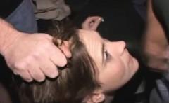 Amateur hooker agrees to public gangbang