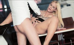big boobs blonde babe kyra hot in glasses fucked real good