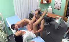 Doctor fucks nurse and cleaning lady in fake hospital