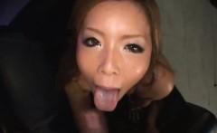 Hot doggy with amazing Japanese model