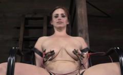 BDSM sub receives brutal shock treatment