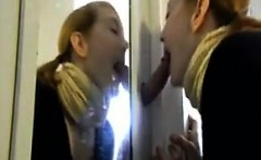 Young Couple With A Glory Hole At Home