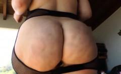 Toyed big ass butt walks
