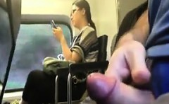cock flashing while riding on the train