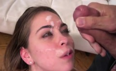 Riley Reid takes facial after deep anal pounding