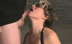 Mom Wearing Lingerie Sucking On A Cock