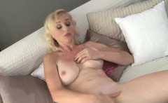 Natural busty mature lady masturbating