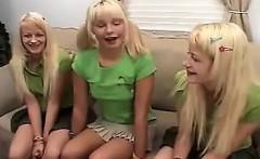 Blonde Twins In A Lesbian Threesome