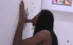 nadia jay gets her black pussy creampied at a glory hole