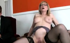 Perv watches his mommy getting smashed by black boss