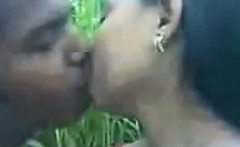 Indian Sucking Her Boyfriends Cock Outside