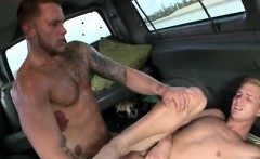 Teen gay takes huge straight dick and a jizz shot