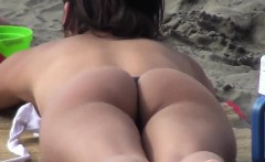 Latina With A Great Ass Tanning At A Beach