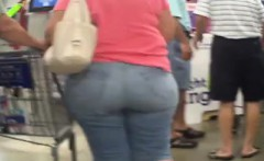 Granny With A Large Booty At Costco