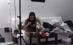 First casting and backstage with hot 18yo teen