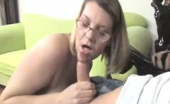 horny milf's got her eyes on young guy's large bulge