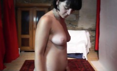 Sexy 19yo chick gives sweet striptease and gets fingered
