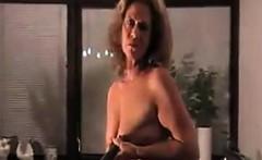 Horny Grandma Weaing Pantyhose Cleans
