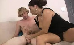 Cum Thirsty Milf Teams Up With Horny Teen To Bust His Nut
