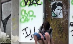 amateur girls filmed pissing on the streets
